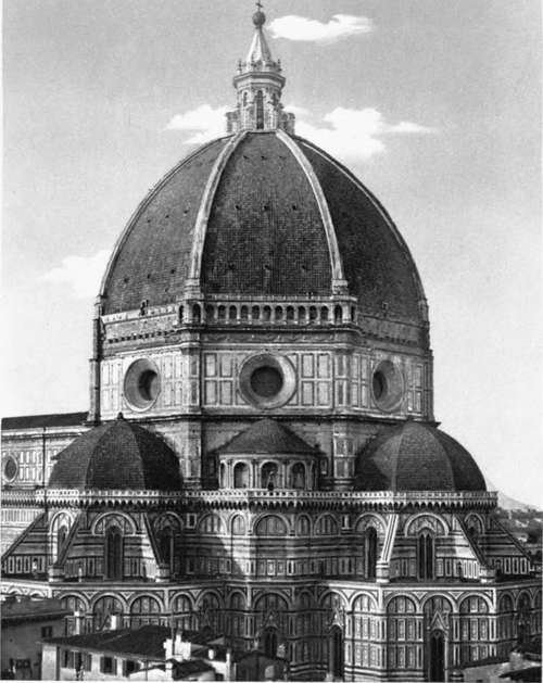 What Is A Front Elevation Drawing : The dome of florence part